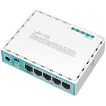 Netwerk Gigabit Router van MikroTik, de Routerboard RB750Gr2 - hEX