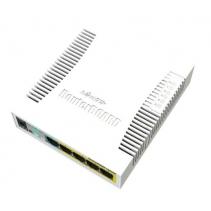 5 poorts netwerk switch van Mikrotik, de RB260GSP PoE, met 5 Gigabit LAN poorten en SFP poort