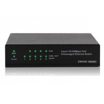 5 poorts netwerk switch van Eminent, de EM4430 5 LAN poorten met PoE