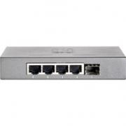 4  poorts netwerk switch LevelOne GEU-0521 met SFP
