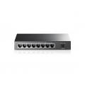 8 poorten netwerk Gigabit switch TP-Link SF1008P, poort 1 t/m 4 PoE